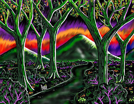 Electric Grape Forest by Steve Farr
