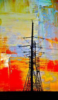 Electric Power Transmission Abstract by Werner Lehmann