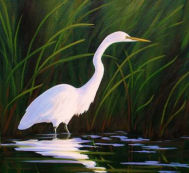 Elegant Egret by Sarah Grangier