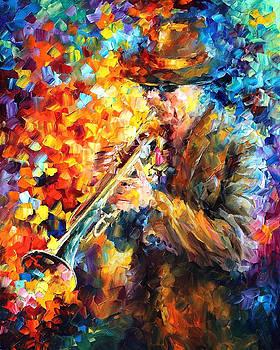 Elegant Sound - PALETTE KNIFE Oil Painting On Canvas By Leonid Afremov by Leonid Afremov