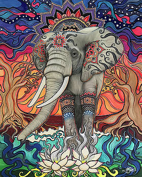 Elephant Enlightened by Julie Oakes