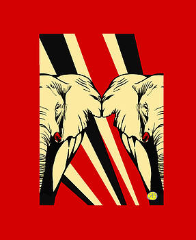 Elephant PopArt by Robert Breton