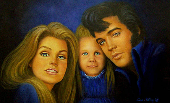 Elvis and Family by Loxi Sibley
