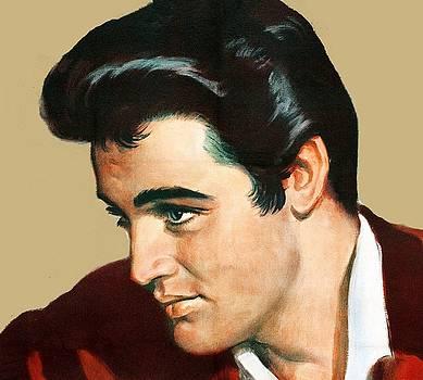 Elvis Presley drawing by Allen Beilschmidt