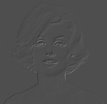 Embosed Marilyn Monroe by Joseph Frank Baraba