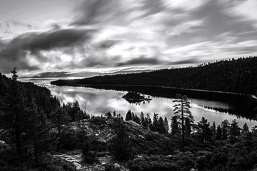 Emerald Bay Black and White by Brad Scott