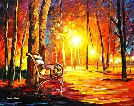 Emotions - PALETTE KNIFE Oil Painting On Canvas By Leonid Afremov by Leonid Afremov