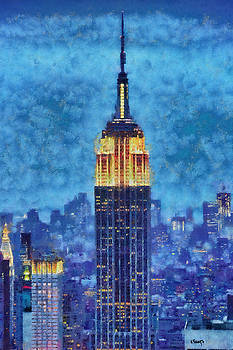 Empire State Building by Night by Kai Saarto