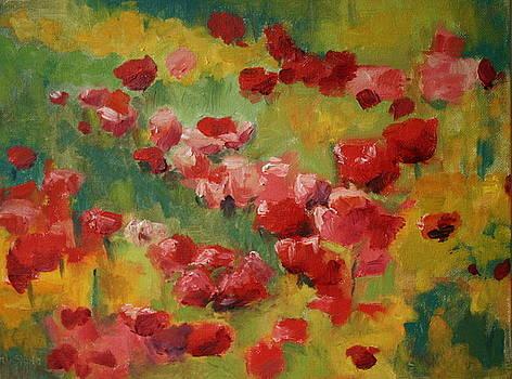 En Plein Air  Poppys by Martha Layton Smith