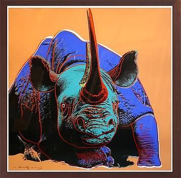Endangered Species Black Rhinoceros by Andy Warhol