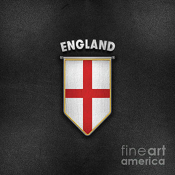 England Pennant with high quality leather look by Carsten Reisinger