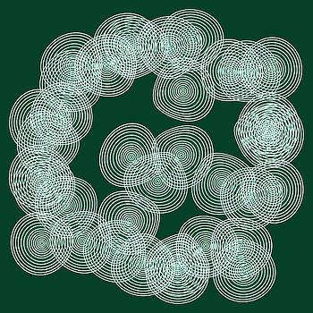 Frank Tschakert - English Green Abstract Circles Square