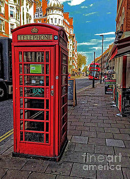 English Red Phone Box  by Doc Braham