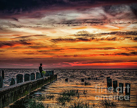 Enjoying the sunset at East Point Light by Nick Zelinsky