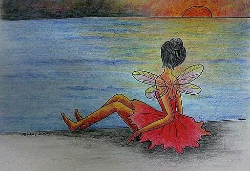 Enjoying the sunset by Desiree Micaela