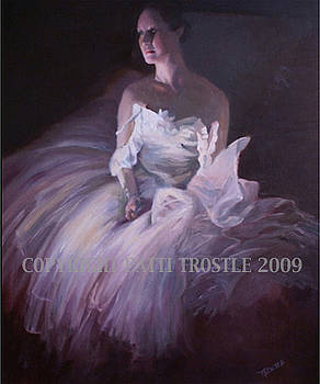 Enlightened-Ballet Dancer Oil Painting by Patti Trostle