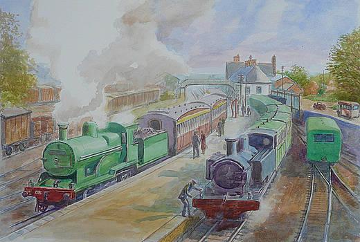 Ennis Train Station circa1930 by Tomas OMaoldomhnaigh