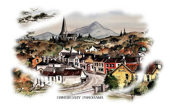 Enniskerry Panorama 2 by Val Byrne