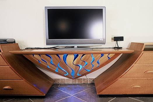 Entertainment center with River Panel by Scott Reuman