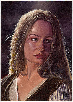 Eowyn Sketch Card by Daniel Bergren