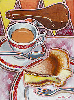 Eroica Britannia and Bakewell Pudding on Pink by Mark Howard Jones