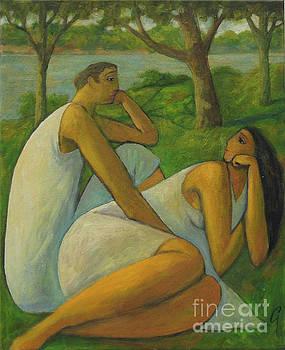Eros and Rhea by Glenn Quist
