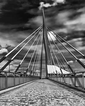 Esplande Riel Pedestrian Bridge by Tom Gort