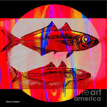 Estuary, Red Fish Art by Sharon K Shubert