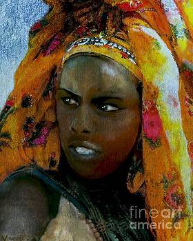 Ethiopian Turban Beauty by Vannetta Ferguson