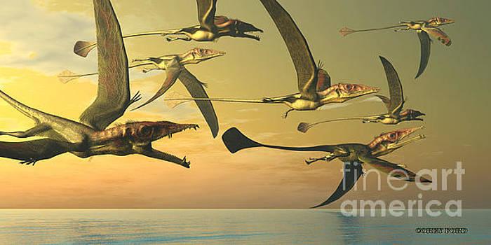Corey Ford - Eudimorphodon Dinosaur Flock