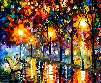 Evening 2 - PALETTE KNIFE Oil Painting On Canvas By Leonid Afremov by Leonid Afremov