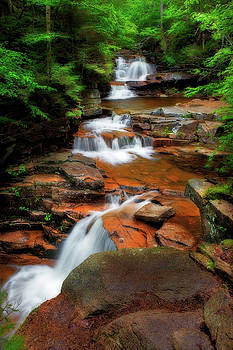 Evening at Bemis Brook Falls by Shelle Ettelson