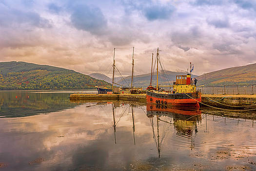 Evening at the dock by Roy McPeak
