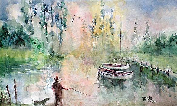 Evening At The Lake Shore by Faruk Koksal