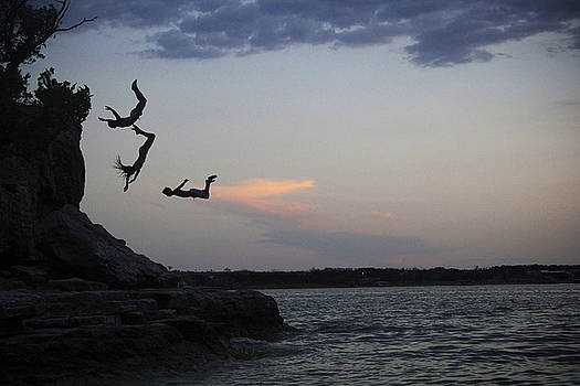 Evening Cliff Jump by Emily Olson