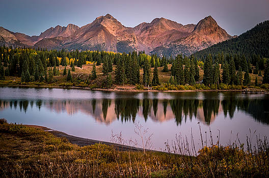 Evening Glow at Molas Lake by Michael J Bauer