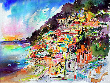 Ginette Callaway - Evening in Positano Italy