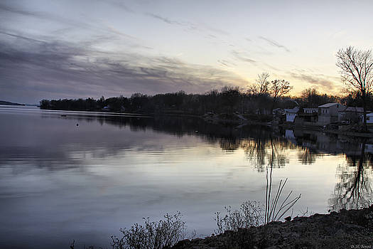 Deborah Benoit - Evening Light On Lake Champlain