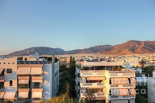 Evening Light Over Athens by Vicki Spindler