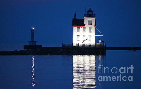 Evening Lighthouse by Debbie Parker