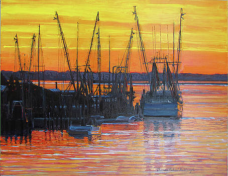 Evening on Shem Creek by Thomas Michael Meddaugh