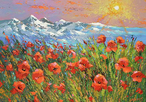 Evening poppies  by Dmitry Spiros