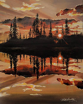 Evening Reflection by Bill Dunkley
