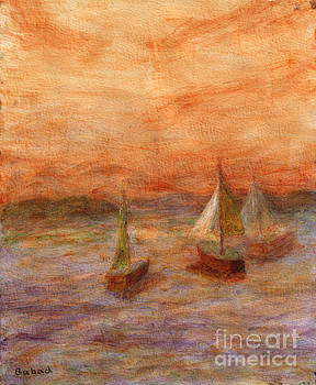 Evening Sail by Arlene Babad