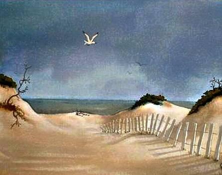 Evening Seascape by Darla Brock