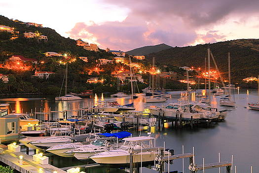 Evening Twilight at Oyster Pond, St. Martin by Roupen  Baker