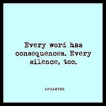 Every  Word - Sartre quote by VIVA Anderson