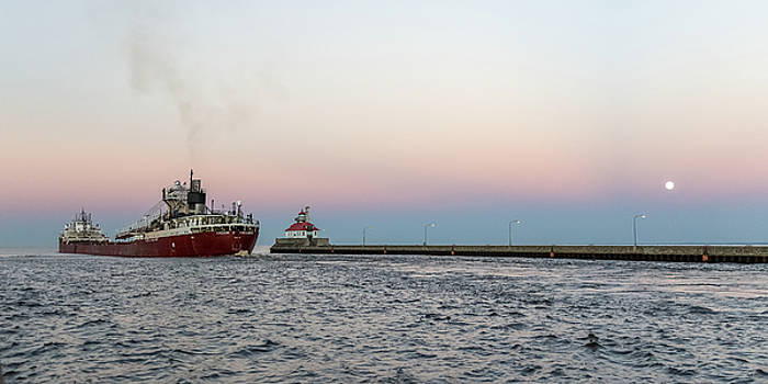 Exiting Duluth Harbor by Penny Meyers