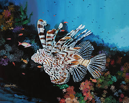 Exotic Lionfish by Bill Dunkley