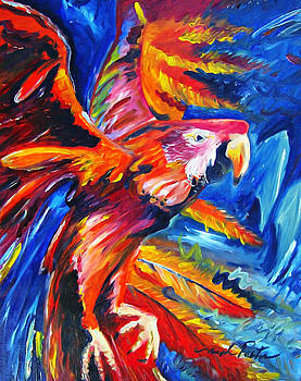 Joseph Palotas - Expressionism Flora in Flight